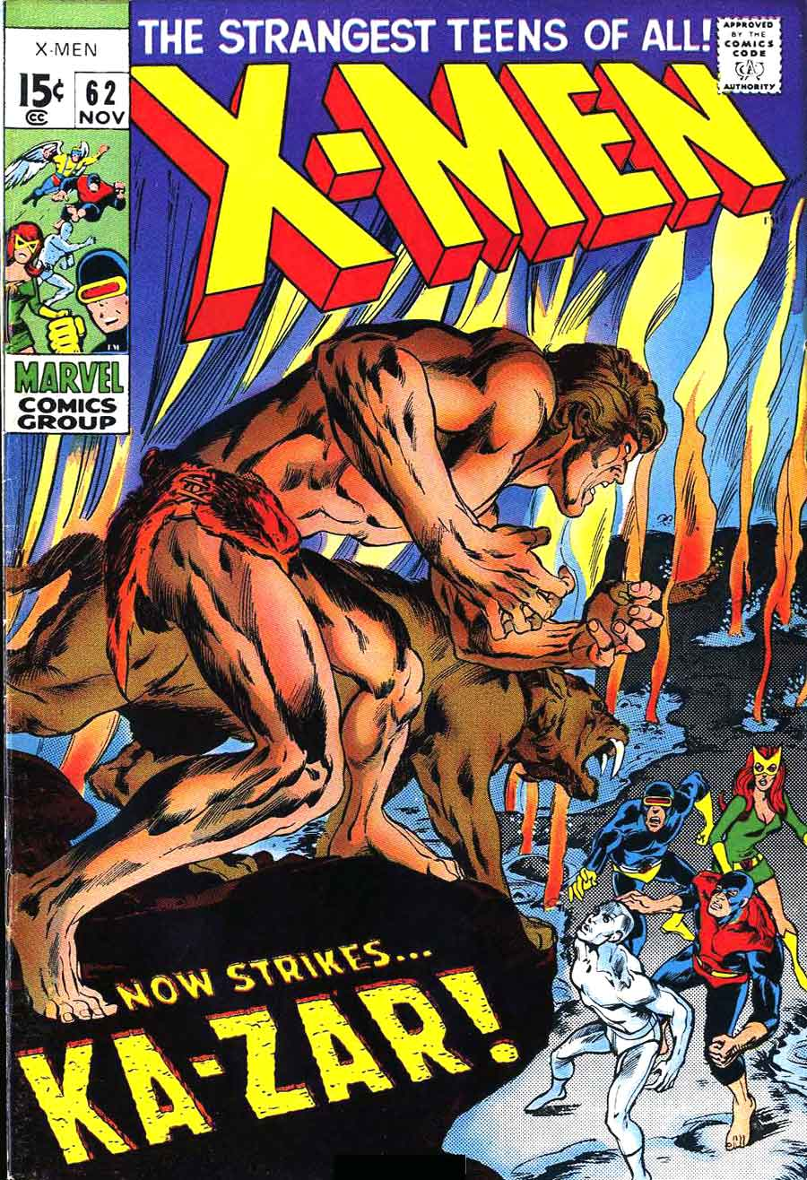 X-men v1 #62 marvel comic book cover art by Neal Adams