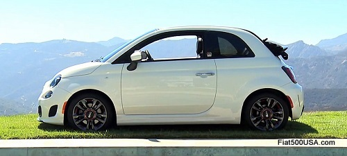 Fiat 500c GQ Edition top back