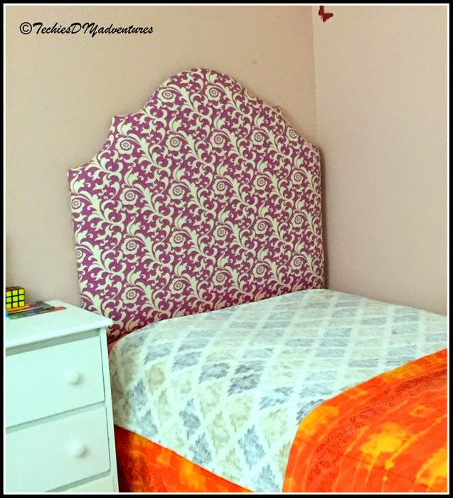 DIY Fabric Upholstered twin headboard