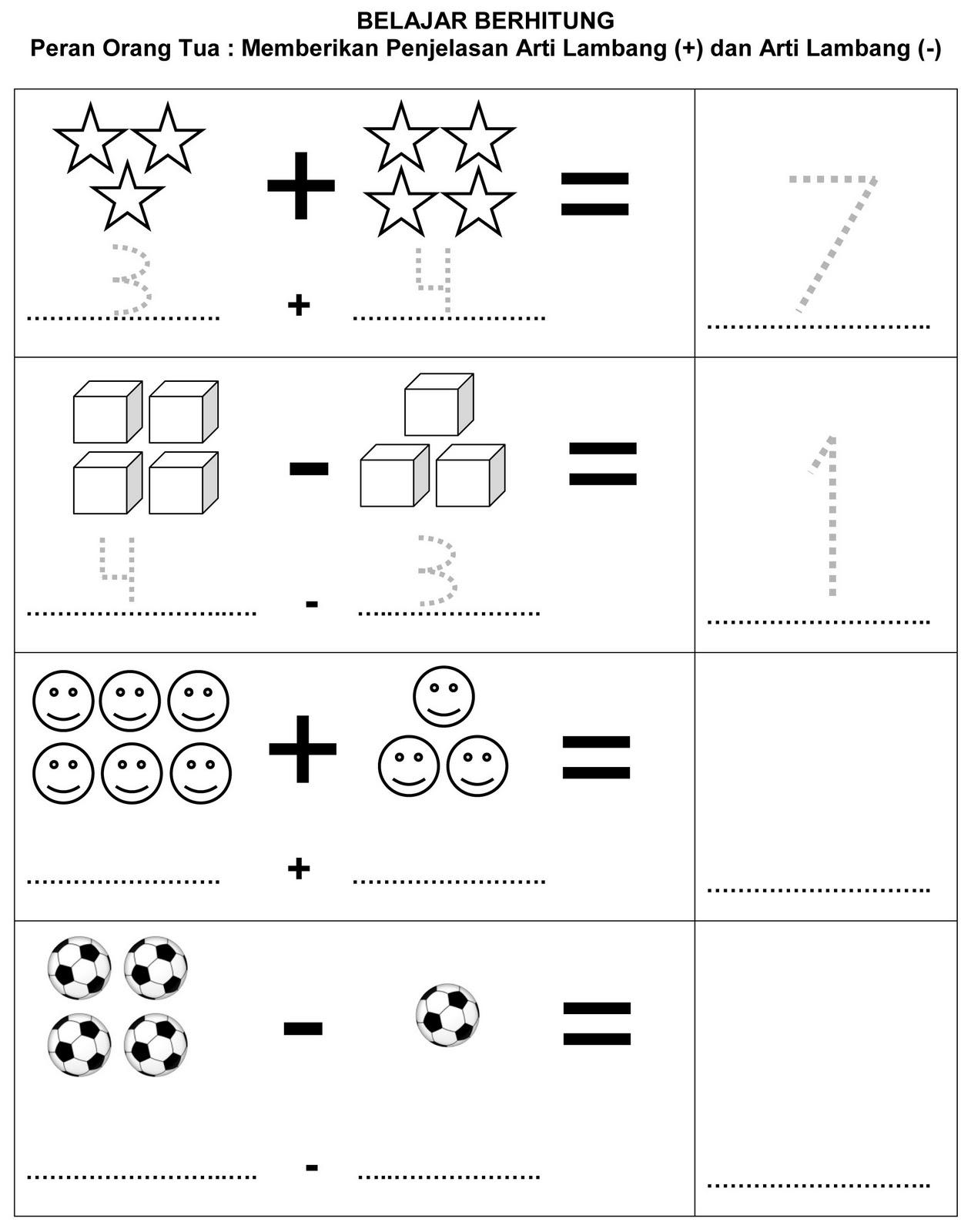 Soal Matematika Anak Tk Dan Kunci Jawaban