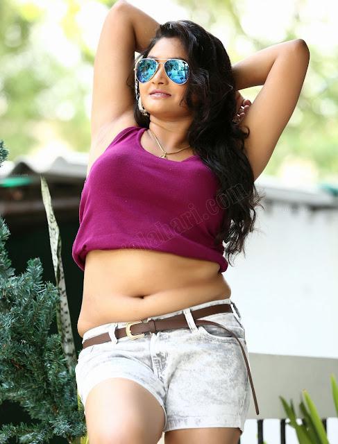 Telugu Actress Pinky Priyanka Hot Navel Show Stills