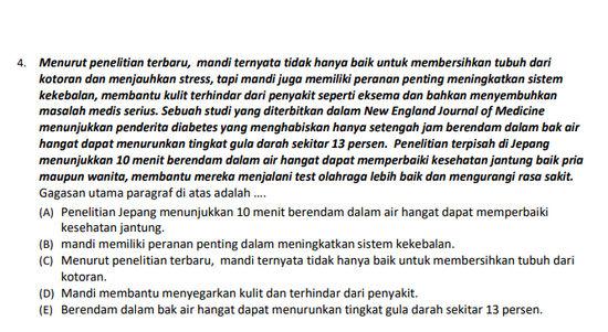 Soal UN Bahasa Indonesia SMK Tahun 2019 Berikut Kunci Jawaban