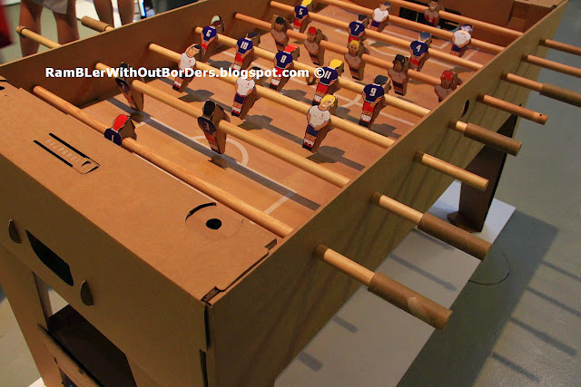 Cardboard table football table, Red Dot Design Museum, Singapore