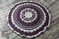 Round Afghan crochet pattern by Crafting Friends Designs