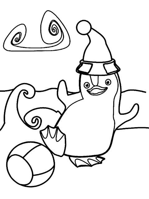 Gambar Mewarnai Pinguin - 2