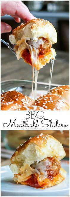 EASY BBQ MEATBALL SLIDERS