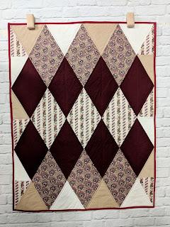 diamond harlequin quilt, windermere fabrics
