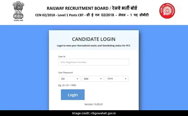 RRB Group D Detailed Result Answer Key Link Activate