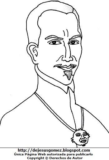 Dibujo del Inca Garcilaso de la Vega para colorear, pintar e imprimir para niños. Dibujo del Inca Garcilaso de la Vega de Jesus Gómez