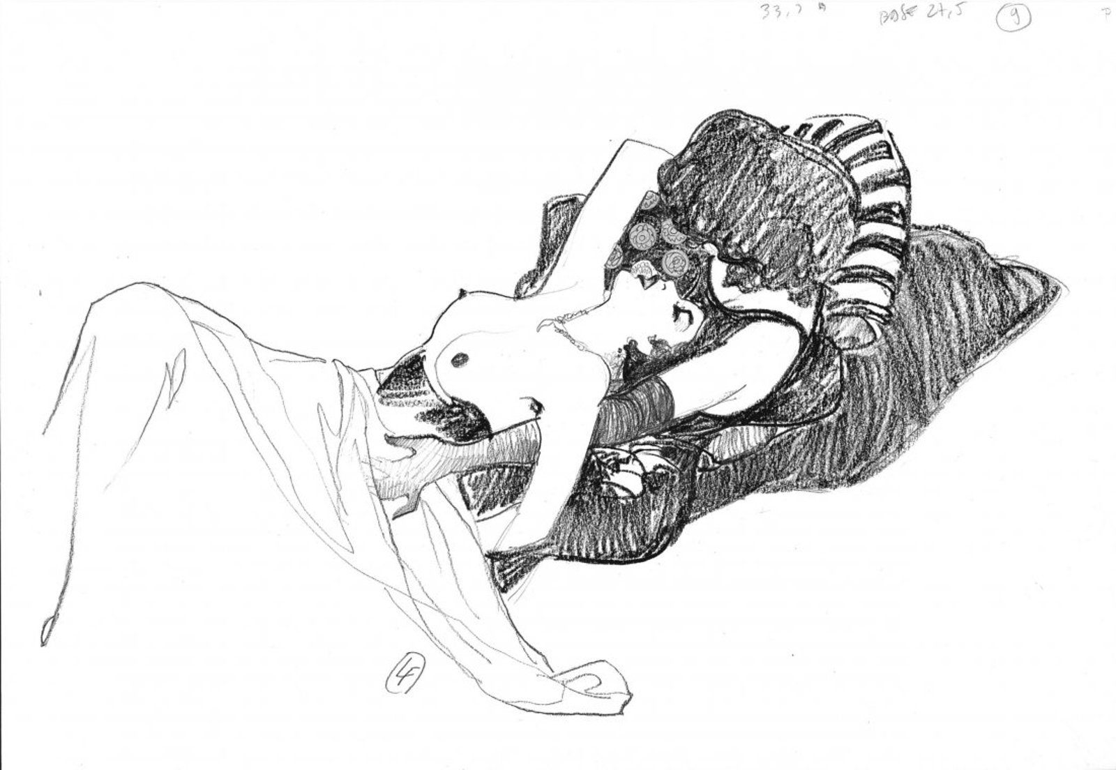 Ilustración erótica de dos mujeres