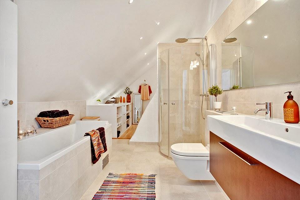 amenajari, interioare, decoratiuni, decor, design interior, penthouse, duplex,  baie, mansarda