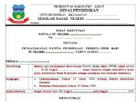 Contoh SK Panitia Penerimaan Peserta Didik Baru (PPDB) Plus Berita Acara