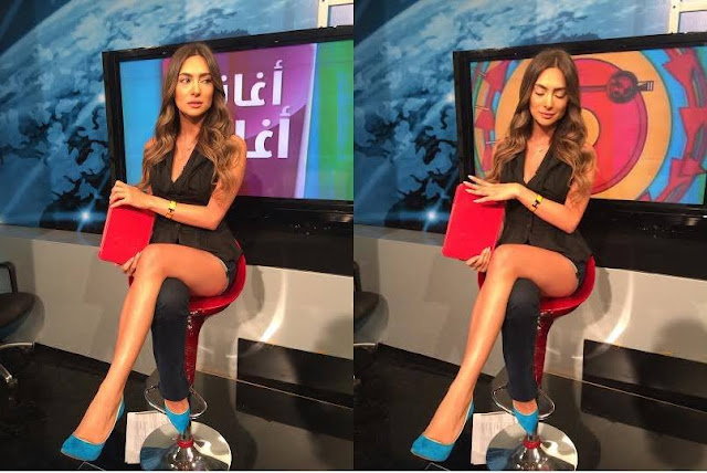 Stephanie Saliba · From last week's episode! Few minutes before going live on Aghani Aghani on MTV Lebanon
