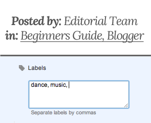 How to Display Labels in Your Posts in Blogger