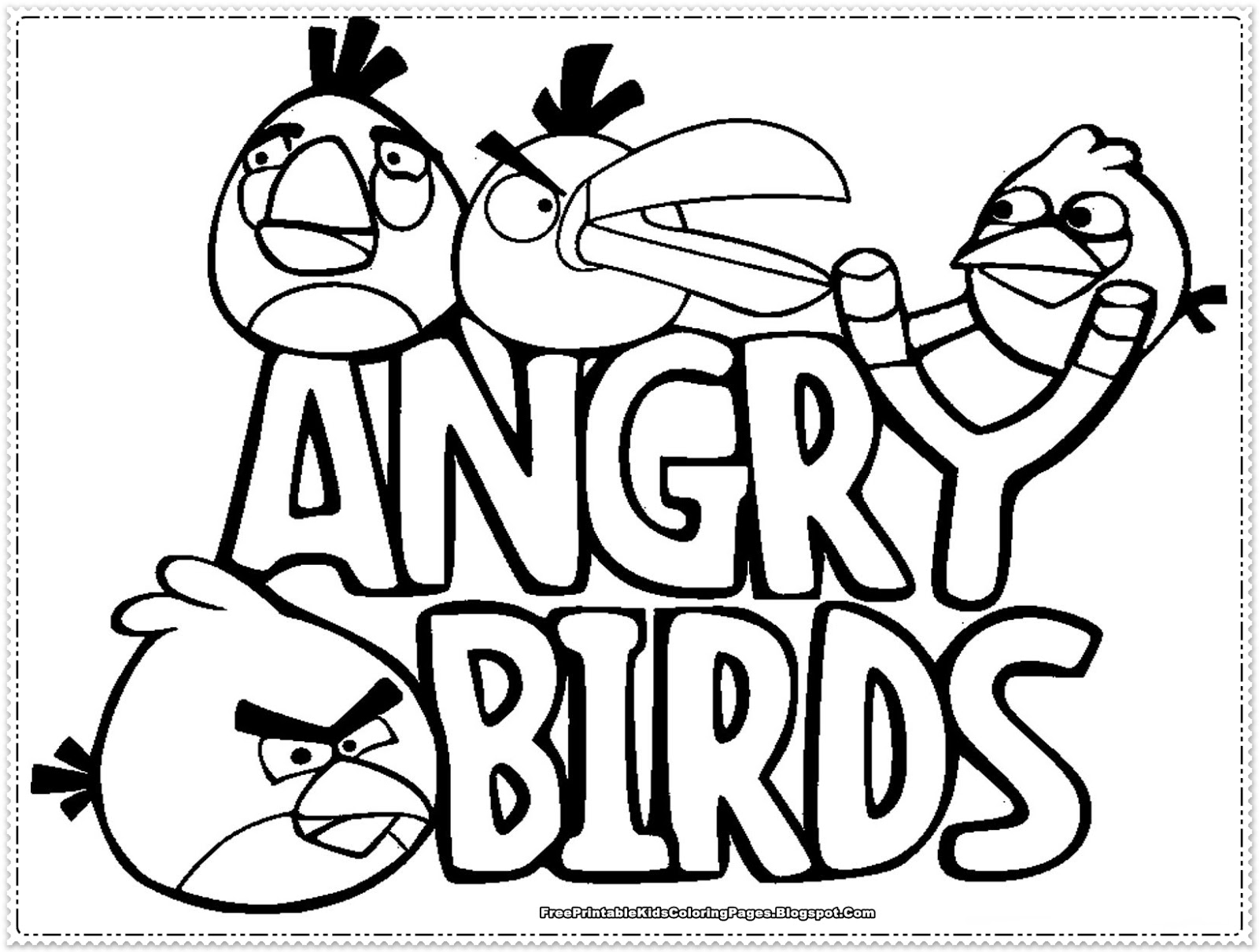 Angry Birds kids Coloring Pages Free Printable Kids