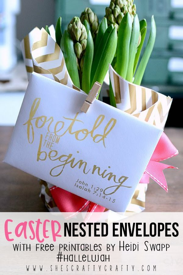 Easter Nested Envelopes free printables by Heidi Swapp  #hallelujah