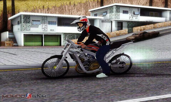 Ninja 150R Drag Hitam Mod GTA SA