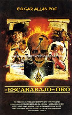 el escarabajo de oro, Juan Piquer Simon, Poe, Vicente Martin, Frank Braña