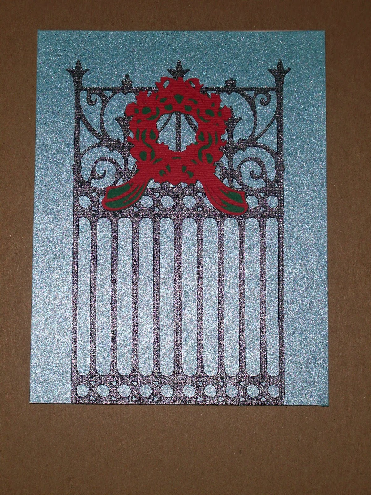 DIY: Decorative Gate Christmas Card