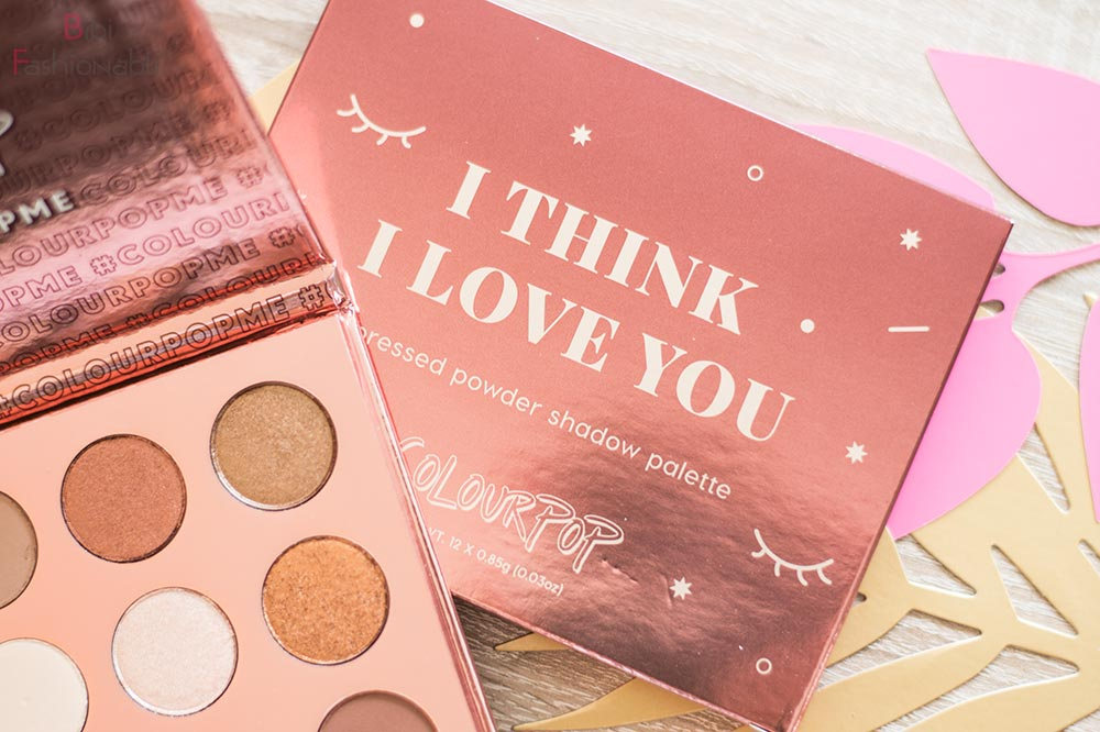 ColourPop I think I love you Pressed Shadow Palette Umverpackung