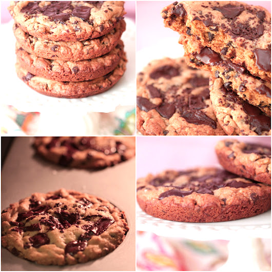 Dark Chocolate Chunk Salted Caramel Cookies