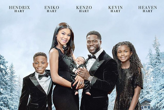kevin-hart-family-christmas-card