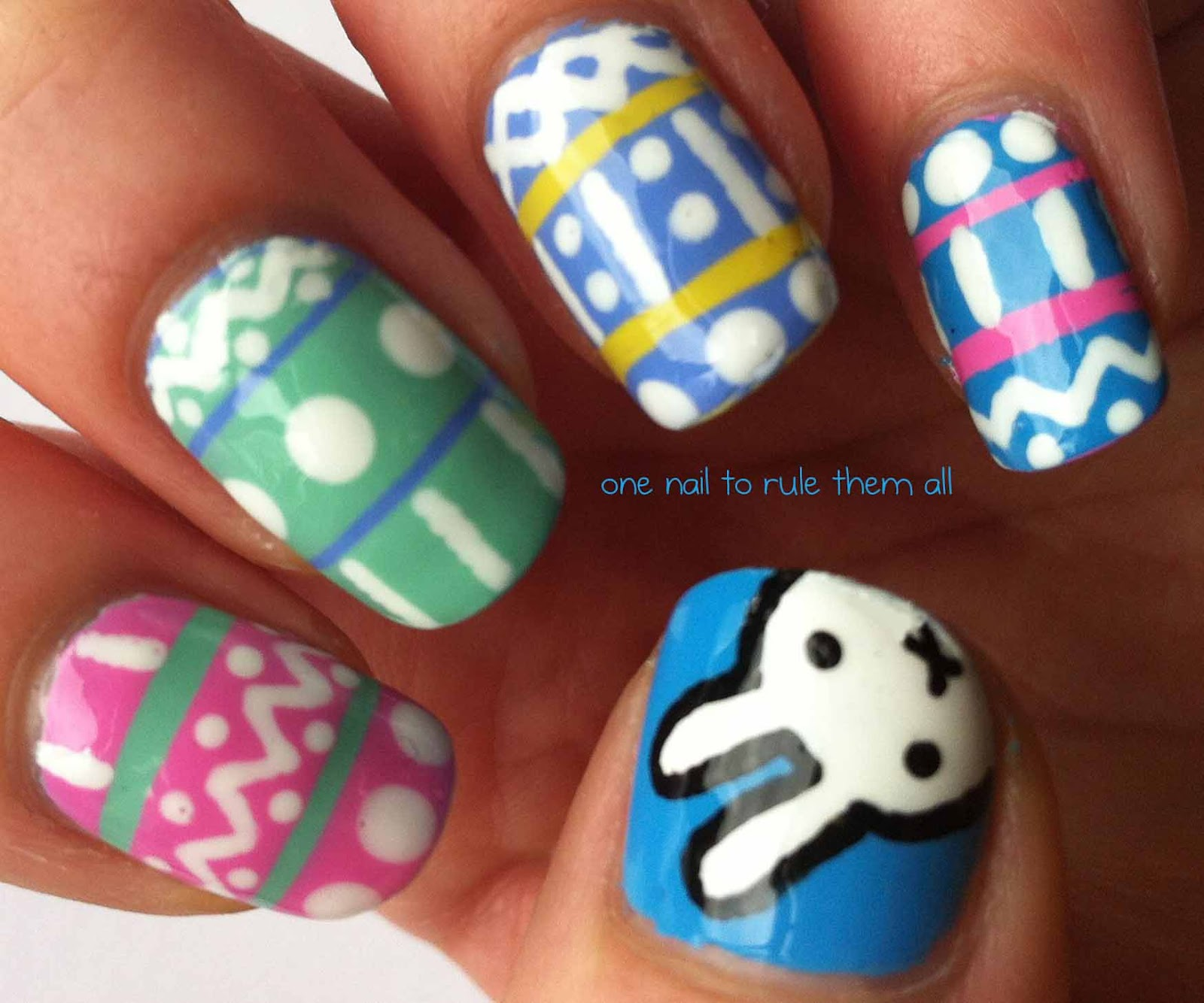 Easter Bunny Nails: One Nail To Rule Them All: Easter Nails