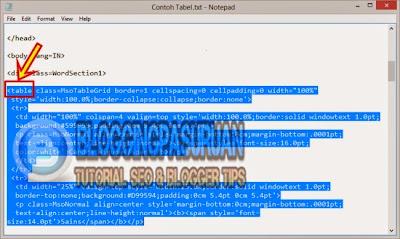 Cara Membuat Tabel Pada Postingan Blog Menggunakan Microsoft Word