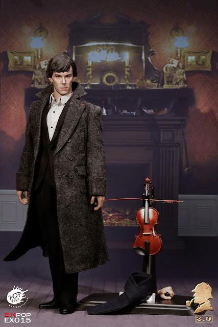"osw.zone POP TOYS 1/6. British Detective 3.0 12 ""Figure aka Benedict Cumberbatch as Sherlock Holmes"