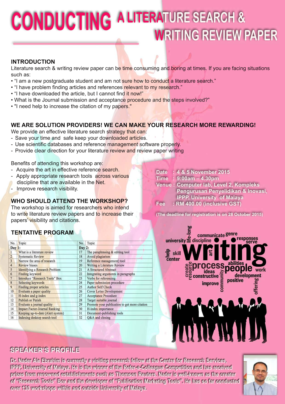 Research writing service workshops
