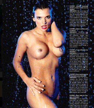 Margarita Reyes desnuda en Play Boy