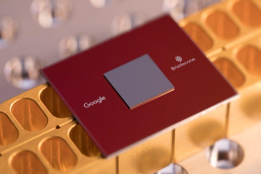 Google's Bristlecone quantum computing chip.