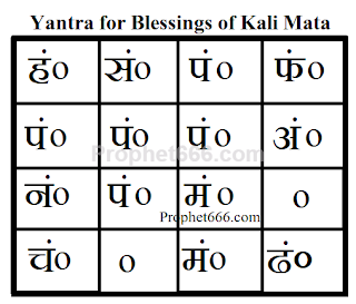 Most Powerful Devotional Yantra for Grace and Blessings of Kali Mata