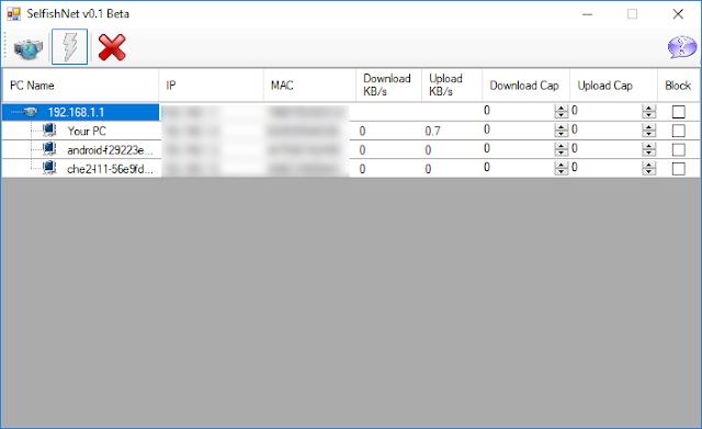 تحميل برنامج سيلفش نت selfishnet للتحكم بشبكة الإنترنت Download SelfishNet