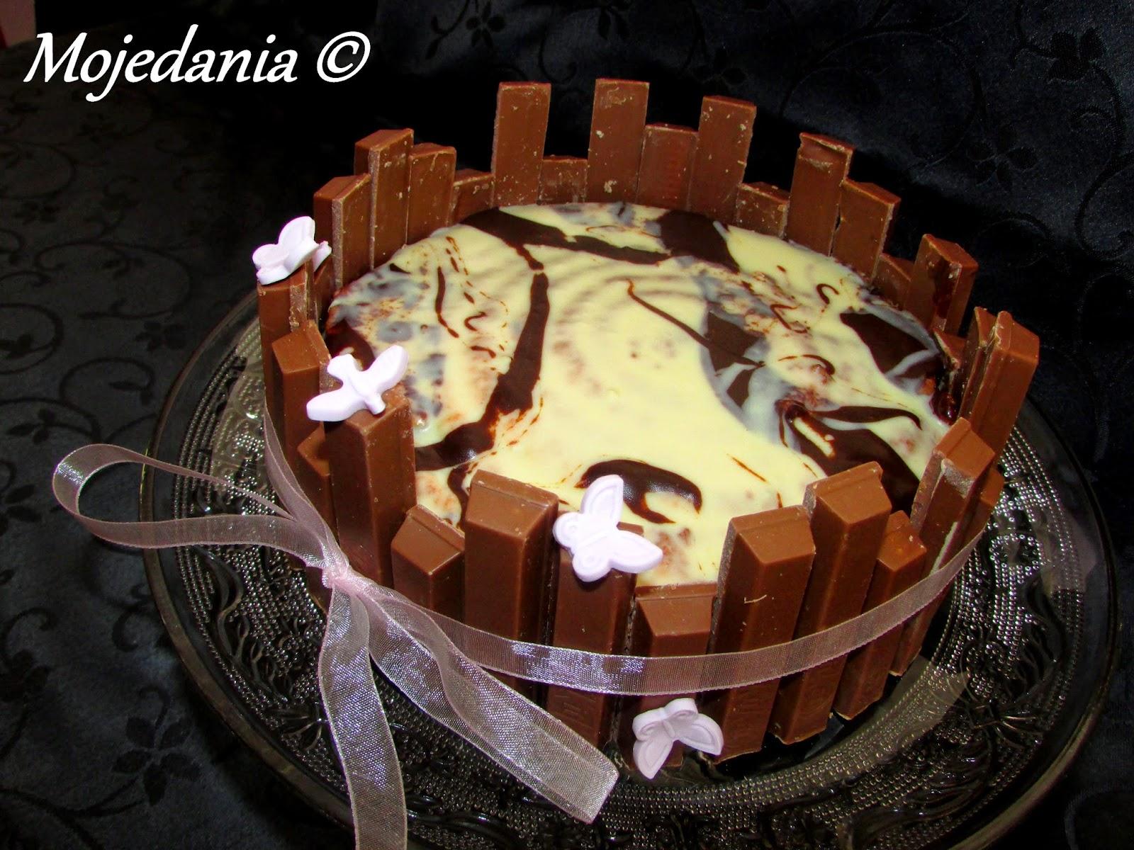 Gateau Kit Kat Dacquoise Mousse Chocolat Noir Et Glacage Marbre
