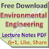 Lecture Notes on Environmental Engineering PDF