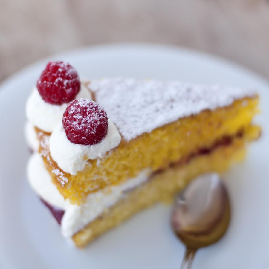 [I love food] Victoria sponge cake ai lamponi