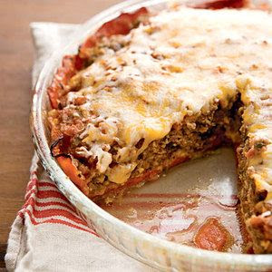 Tex-Mex Crustless Meatloaf pie