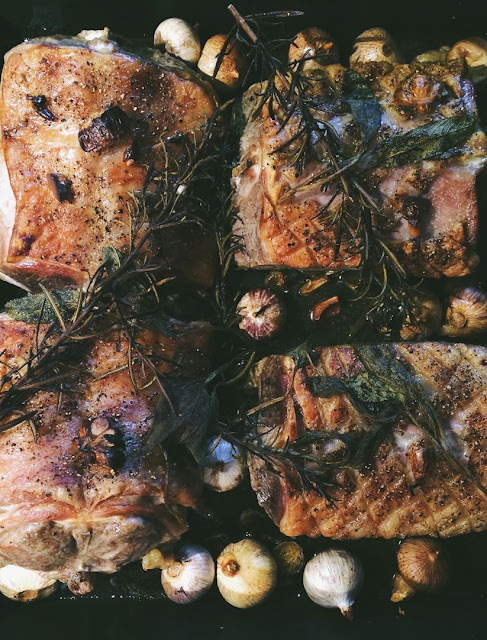 Lammrücken im Ofen gegart