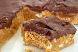No-Bake Chocolate, Peanut Butter, Corn Flake Bars