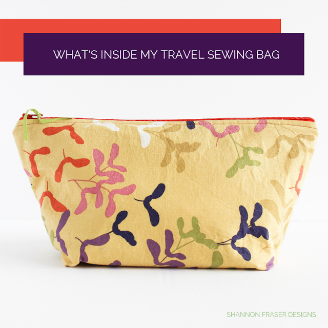 What's inside my travel sewing bag | Shannon Fraser Designs