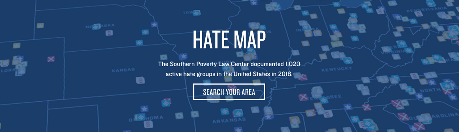 The Southern Poverty Law Center creates a sense of urgency with its CTA body copy and button prompt wording