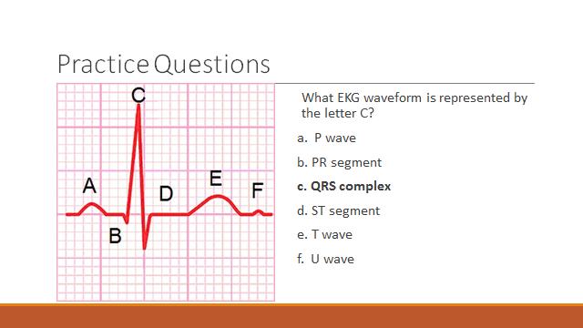Telemetry Technician Course Ekg Waveform Practice