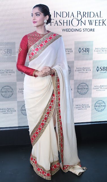 Actress Sonam Kapoor in IBFW wedding collection