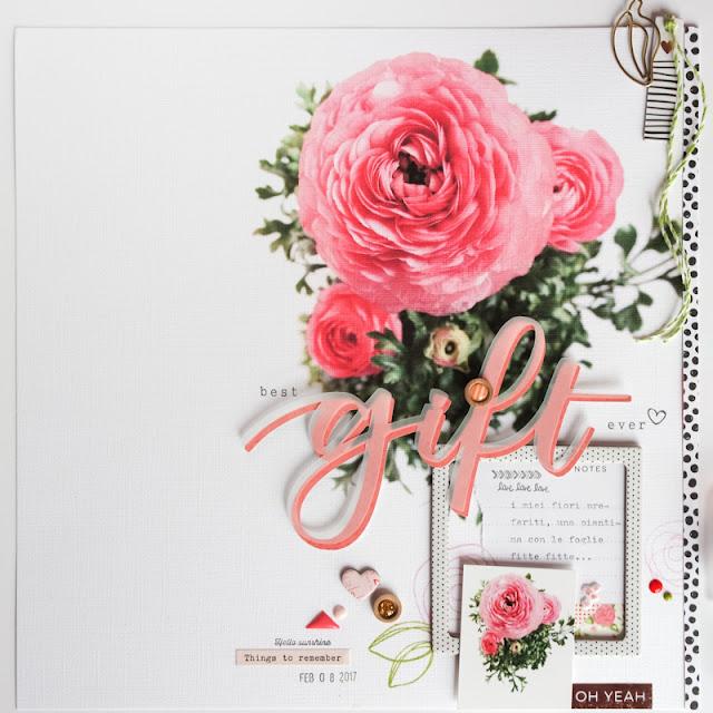 "scrapbook layout ""gift"" by kushi   www.kkushi.com"
