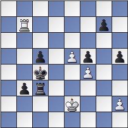 Posición de la partida de ajedrez Benrstein contra Pomar, 1949, 40. Tb7