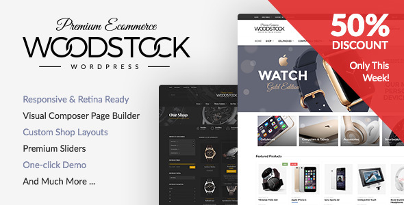 Woodstock v1.6 - Responsive WooCommerce WordPress Theme