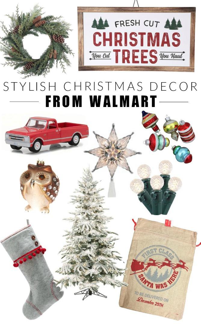 Stylish Christmas decor from Walmart