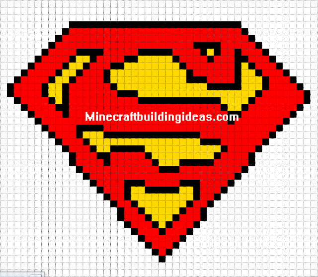 Minecraft Pixel Art Templates Superman Logo