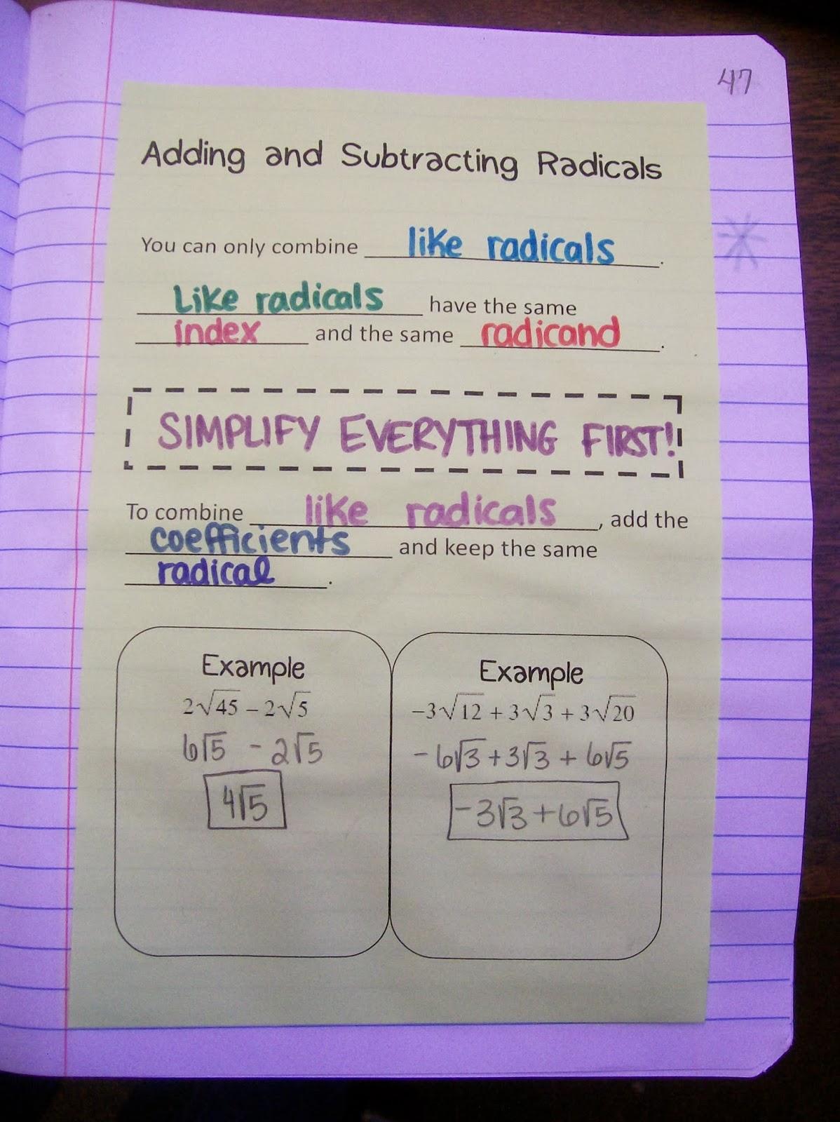 Math Love Radical Radicals